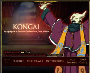 Kongai - Kongregate.com's collectible card game.